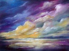 Ocean 3x4, original miniature oil painting by valdasfineart on Etsy