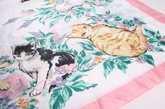 Butterfly Vintage Pink Floral Kitten Print Novelty by aiseirigh