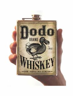 Dodo Whiskey - flask - stainless steel - 8oz
