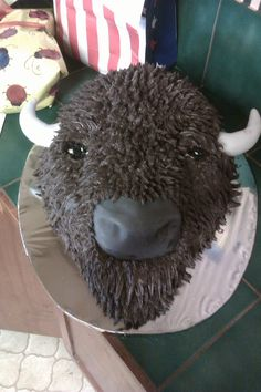 Hagen's buffalo birthday cake by Aunt Barbara