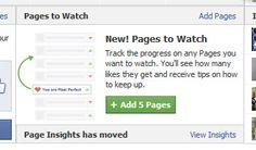 Facebook ayuda a monitorizar páginas de la competencia con su nueva función Page to watch