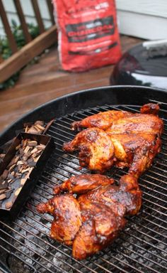 Grill Whole Chickens to Perfection using this easy technique for BBQ Spatchcock Chicken. Spatchcock Chicken Grilled, Grilled Whole Chicken, Stuffed Whole Chicken, Baked Chicken, Bbq Whole Chicken, Chicken Marinades, Chicken Recipes, Chicken Meals, Grilling Recipes
