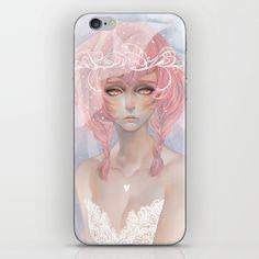 pink hair iPhone & iPod Skin by Lüleiya | Society6