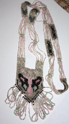 Art Deco Necklace Micro Beaded Flapper 1920s Jewelry Butterfly Flappers 1920s, 1920s Flapper, 1920s Jewelry, Art Deco Necklace, Roaring 20s, Crochet Necklace, Butterfly, Roaring Twenties, Butterflies