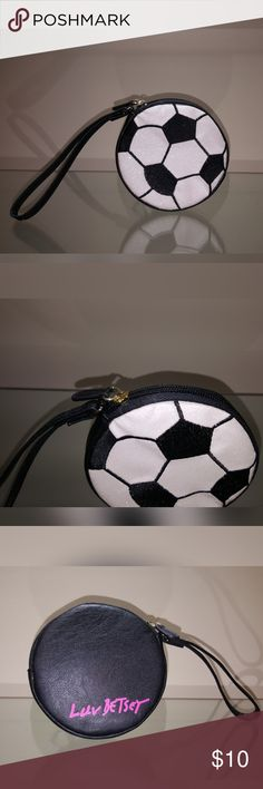 Betsey Johnson Wristlet Betsey Johnson Soccer ball Wristlet   Perfect for any Soccer fan!!!  **New without tag** Betsey Johnson Accessories Key & Card Holders