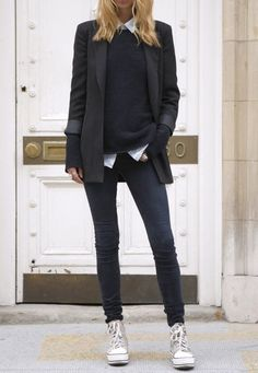The is classic tomboy style dress up Via unknown fashion blogger   bei http://www.justthedesign.com