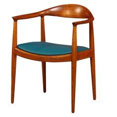 """""""The Chair"""" by Hans J. Wegner Year: 1949 w. 63 x d. 53 x h. 45/76 cm. armrest h.70cm"""