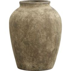 Medium Moss Olive Jar in Garden, Patio | Crate and Barrel