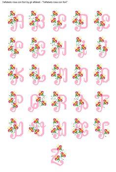 alfabeto rosa con fiori