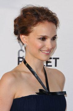 Natalie Portman swept her wavy tresses back into an elegant updo