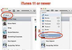 iTunes 11 Adding to Tones