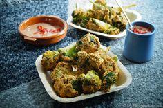 KNUSPERKABINETT: Knusprige Broccoliwings mit würzigem Tahina-Tomate...