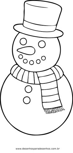Desenho Boneco Neve Natal