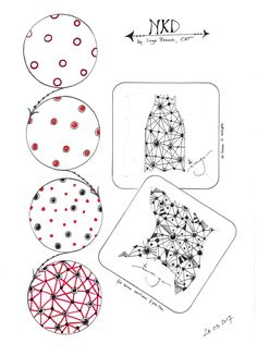 Tangles/Muster created by Inge
