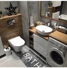 Morning bathroom day good - Christmas is coming, and with them cleaning according to perf . - Design Cointrend News Laundry Room Bathroom, Laundry Room Design, Bathroom Design Small, Bathroom Layout, Bathroom Interior Design, Interior Design Living Room, Eclectic Bathroom, Modern Bathroom, Toilet Design