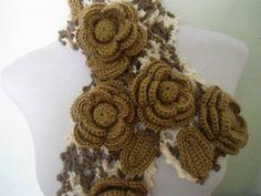 cachecol floratta | Miss Flor Croche | 224B66 - Elo7
