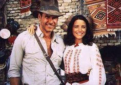 Marion Ravenwood in Indiana Jones is wearing a fabulous ethnic Romanian blouse!