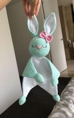 Easy Crochet Patterns, Amigurumi, Baby lovey toys by AVokhminaPatterns Crochet Bow Pattern, Crochet Lovey, Crochet Baby Toys, Crochet Bunny, Crochet Patterns Amigurumi, Baby Blanket Crochet, Crochet Dolls, Baby Knitting, Free Pattern