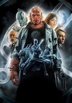 Directed by Guillermo del Toro. With Ron Perlman, Doug Jones, Selma Blair, John… Hellboy Film, Hellboy 2004, Hellboy 1, Ron Perlman, Selma Blair, Love Movie, Movie Tv, Movie Theater, Occult Symbols