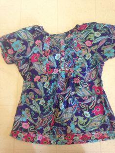 KOI kathy peterson Top LARGE L Smock 2 Front Pockets Scrubs Shirt Colorful Smock #Koi #scrub #tops #ebay