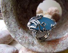 anello Acquamarina Polpo pezzo unico #design #gioielli #Napoli #pietrasalata