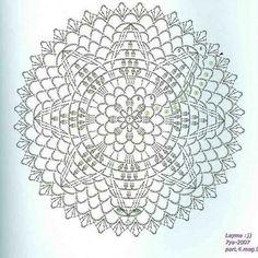 Crochet pattern doily diagram