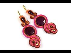 How to make ethnic earrings. Our new handicraft tutorial will show you how to create a gorgeous DIY jewelry using the soutache technic. Soutache Tutorial, Earring Tutorial, Soutache Pendant, Soutache Earrings, Beaded Jewelry, Handmade Jewelry, Pendant Jewelry, Shibori, Beaded Embroidery