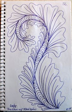 56 May Your Bobbin Always Be Full: Sketch Book.Feathers w/Filled Spine Machine Quilting Patterns, Longarm Quilting, Free Motion Quilting, Hand Quilting, Quilt Patterns, Zentangle Patterns, Zentangles, Quilt Stitching, Quilting Tutorials