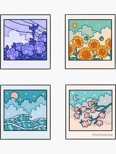 Anime Stickers, Kawaii Stickers, Cute Stickers, Preppy Stickers, Laptop Stickers, Arte Do Kawaii, Kawaii Art, Journal Stickers, Planner Stickers