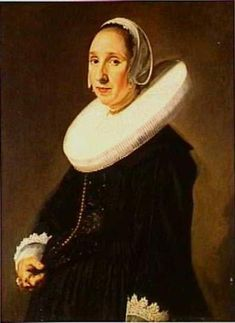 Portrait of a Woman with a White Ruff - Frans Hals. 1630-40. Oil on canvas. 80 x 64.1 cm. Private collection.