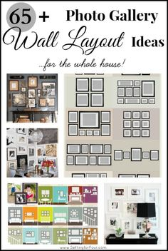 65 Plus Amazing Photo Gallery Wall Layout Ideas ~ For the Whole House! www.settingforfour.com