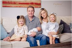 Family Photography, Indoor Family Photo Session, Newborn Photography