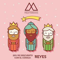Descuento especial de Reyes! Regala Mediterrans con un 20% de descuento en tota tu compra con el código REYES! Haz tu pedido antes del día 4 para asegurarte que lo recibirás el 5!  www.mediterrans.com