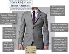 Men's Suit Jacket and Blazer Alterations fashion mens fashion men's fashion infographic infographics fashion tips fashion infographic infographics on fashion Men's Swimsuits, Dress Alterations, Bespoke Suit, Mens Dress Pants, Altering Clothes, Blazers For Men, Gentleman Style, Blazer Jacket, Cargo Jacket