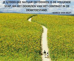 Je goddelijke natuur ontdekken is de volgende stap, na het doorzien van het contrast in de denktoestand. ~Marco van Delft
