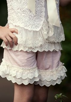 tropical pink frilly shorts