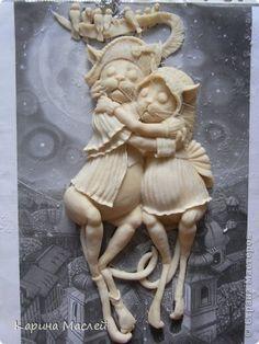 Картина панно рисунок Лепка Рисование и живопись Наполеон и Жозефина и еще кое что  Тесто соленое фото 6
