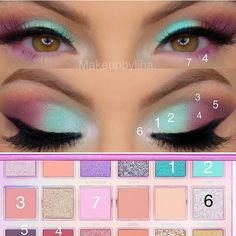 makeup tutorial for green eyes kylie jenner makeup with no face makeup eyeshadow huda beauty day makeup eyeshadow makeup makeup for red dress makeup tips Asian Eye Makeup, Makeup Eye Looks, Eye Makeup Steps, Eye Makeup Art, Colorful Eye Makeup, Day Makeup, Makeup Goals, Makeup Inspo, Eyeshadow Makeup