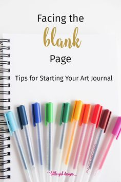 Here are a bunch of tips for starting your art journal that you can try out immediately. No more fear of the blank page here! :)