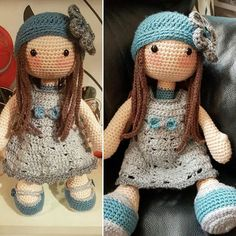 """This is """"Lilly"""" my first attempt at this pattern by carocreated. I love her! #carocreated #dolly #dolls #doll #toy #toys #plush #plushie #handmade #lilly #amigurumi #ami #crochet #crochettoy #crochetersofinstagram #crocheter #hook #crochethook #hooked #hook #crocheting #crochetingisfun #yarn #wool #crochetaddict #crochetaddicted #hookedonewecrochet #art #fibreart #crafts #craft"""