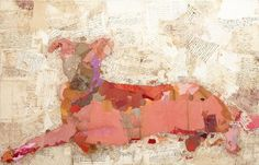 Fernando Alday, Dobi, 2012, Collage and Mixed media on canvas, 51.3 x 31.14 inches