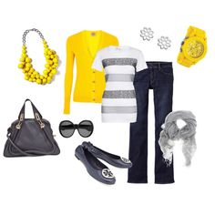 <3 yellow and grey <3