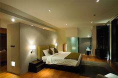 Bedroom in Villa with contemporary Asian design