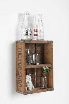 Soda Box Shelf #diy