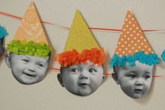 Totally making this for Jo's first birthday. From Dahlias to Doxies: Baby Birthday Banner {Tutorial}I'm dying. Totally making this for Jo's first birthday. From Dahlias to Doxies: Baby Birthday Banner {Tutorial} Baby 1st Birthday, Birthday Bash, First Birthday Parties, First Birthdays, Funny Birthday, Birthday Garland, Birthday Balloons, Boys Birthday Decorations, Birthday Display