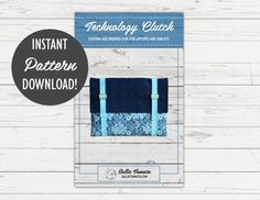 Instant Download PDF Pattern for Technology Clutch // Padded Laptop Case // Padded Tablet Cover // Quilted Laptop Cover // Buckle Clutch by Sallie Tomato