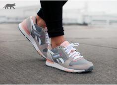 Reebok GL 6000 Athletic (Flat Grey / Steel / Coral Glow / White)