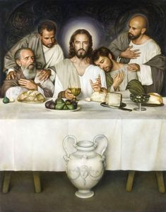 Last Supper, Holy Thursday Pictures Of Christ, Religious Pictures, Catholic Art, Religious Art, Jesus Painting, Christian Images, Last Supper, Lords Supper, Jesus Art