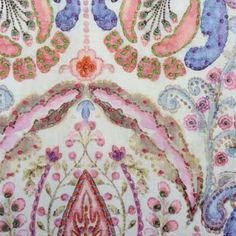 Gwen, Flamingo   Highland Court Fabric by Duralee #fabrics #colorful