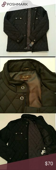 Men's Tassa Elba diamond quilted jacket Brand new with tags Diamond quilted jacket! Nice light weight jacket for him! Perfect to through on any outfit! Front zipper and buttons up. Tasso Elba Jackets & Coats Lightweight & Shirt Jackets